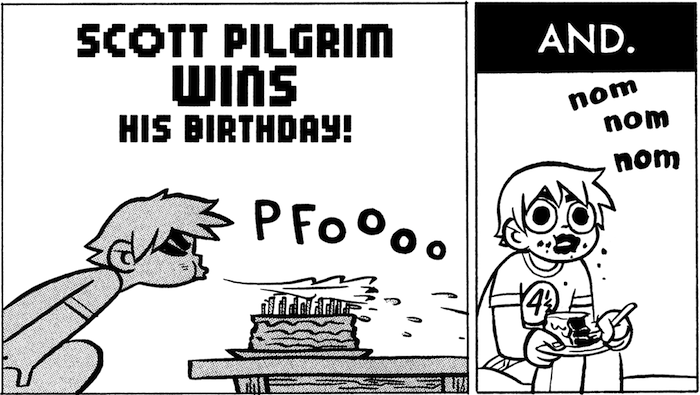 Scott Pilgrim WINS his birthday!